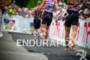 Athletes run toward transition at the 2011 Ford Ironman Lake…