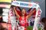 Chrissie Wellington (GBR) wins the 2011 Ford Ironman World Championship