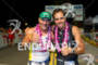 Tony Kanaan (BRA) and Vitor Meira (BRA) celebrate…