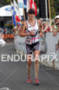 Caroline Steffen of Switzerland approaching the finish of…