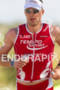 Erich Kunz (SWI) on run at the 2011 Ford Ironman…