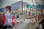 Athletes run over the bridge at the 2011 Ford Ironman…
