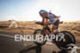 Jesse Vondracek on bike at the  Ironman St. George on…
