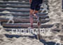 Athlete starts the run up the sand stairs…