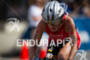 Sarah Piampiano on the bike at the Ironman…