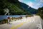 Athletes bike along the scenic Route 73 into the town…