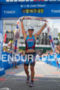 Jessie Donavan at the finish line at the 2012 Ironman…