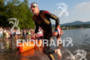 Andy Potts emerges from the water at the 2012 Ironman…