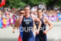 Alistair BROWNLEE (GBR) and 3rd Jonathan BROWNLEE (GBR) leading the…