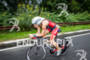 Intenste looking Kate Bevilaqua races her bike at…
