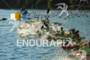 Swim start of the professional athletes at the Ironman 70.3…
