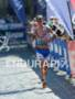 Michael Ralert on the run at the Ironman 70.3 European…