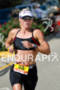 Kathleen Calkins during the run portion of the 2012 Ironman…