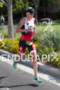 MELISSA HAUSCHILDT on run at the 2012 Ironman…