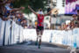 Linsey Corbin celebrates as she wins at the 2012 Ironman…