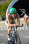 American Haley Chura riding her bike at 2013 Ironman Brazil…
