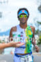 Brazil's Thiago Viinhal running ina stylish way at 2013 Ironman…