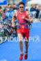 Javier Gomez running at the 2014 Hamburg World Triathlon in…