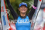 Eva Wutti celebrates her victory at the finish of the…