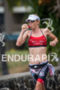 Liz Blactchford (AUS) takes on some nutrion during the run…