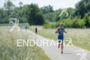 Laura Philipp during the run portion of the Ironman 70.3…