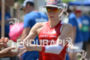 Daniela Ryf competes during the run leg of the Ironman…