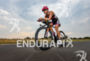 Radka Vodickova competes during the bike leg of the Ironman…