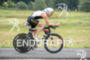 Ruedi Wild competes during the bike leg of the Ironman…