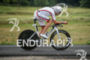 Boris Stein competes during the bike leg of the Ironman…