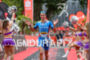 Andreas Raelert celebrates at the finish line of the Ironman…