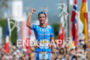 Andreas Raelert celebrating at the finish of the 2015 Ironman…