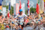 Andy Potts (USA) at the finish at the 2015 Ironman…