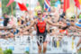 Rachel Joyce (GBR) at the finish  at the 2015 Ironman…