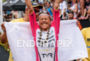 Michelle Vesterby (DEN) at the finish  at the 2015 Ironman…