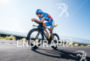 Andreas Raelert during the bike portion of the  2015 Ironman…