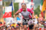 Michelle Vesterby during finish line of the  2015 Ironman World…
