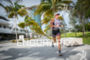 Lesley Smith during the  run portion of the  2015 Ironman…