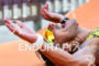 Athlete during the finish portion of the  2015 Ironman Fortaleza…