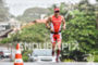 Brent Mcmahon during the run portion of the 2016 Ironman…