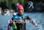 Lauren Barnett during the swim portion of the 2016 Ironman…