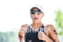 Lauren Brandon during the run portion of the 2016 Ironman…