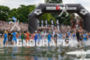 swim start of Ironman European Championship in Frankfurt, Germany on…