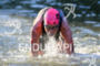 Holly Lawrence (GBR) exits swim at the 2016 Ironman 70.3…