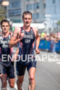 Alistair Brownlee and Jonathan Brownlee during the run portion of…