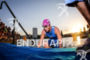 Celine Schaerer exits the water at Ironman Vichy in Vichy,…