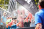 Crowd is getting cooled down at Ironman Vichy in Vichy,…