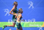 Michellie Jones and Katie Kelly (AUS) during the run portion…