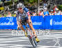 Heather Jackson (USA) competes during the bike leg at the…