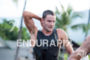 Jan Frodeno during the swim portion of the 2016 Ironman…