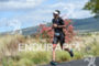 Jesse Thomas during the run portion of the 2016 Ironman…